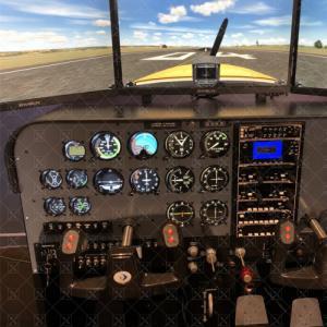 双座三屏全仪表飞行模拟器